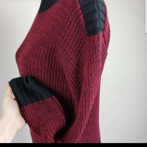 Apt. 9 Burgundy Colorblock Sweater